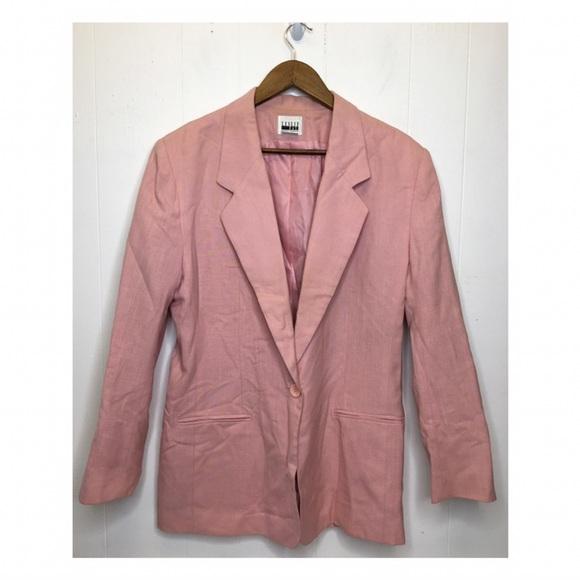 Vintage Leslie Fay | Pink Single Button Blazer